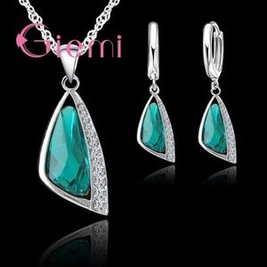 Jewelry - 925 Sterling Silver Necklace Earring Set N1